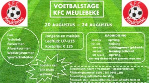 VOETBALSTAGE ZOMER 2018